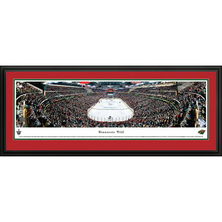 Minnesota Wild   End Zone View At Xcel Energy Center   Blakeway Panoramas Nhl Print With Deluxe Frame And Double Mat