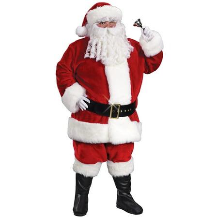 Plus Size Christmas Costume (8-Piece Regency Plush Red And White Santa Claus Plus Size Christmas Suit)