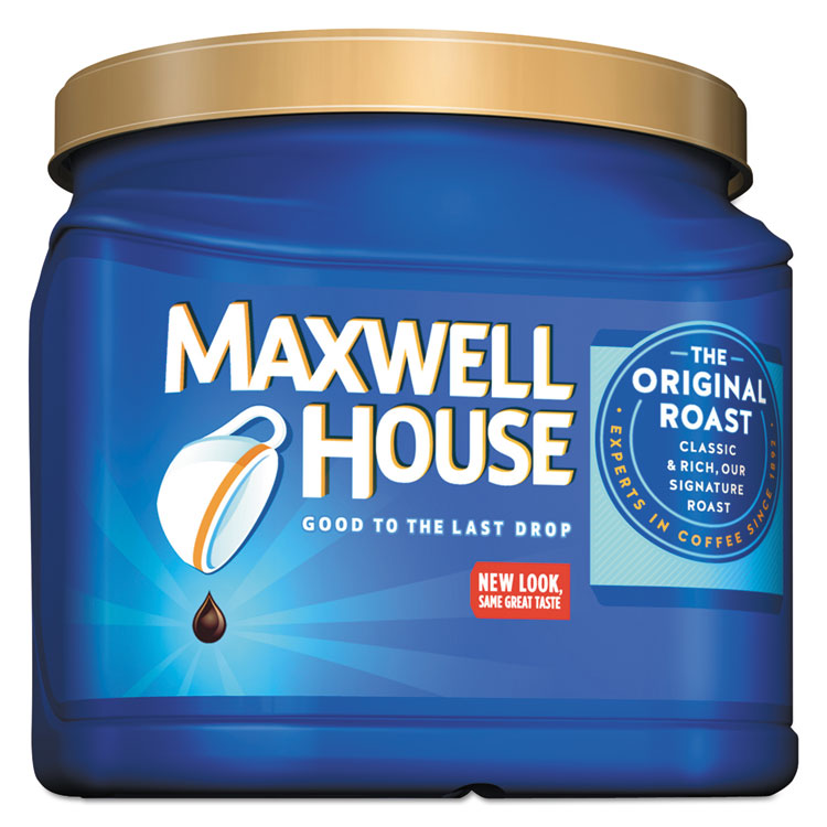 Maxwell House Coffee, Decaffeinated Ground Coffee, 29.3 oz Can - MWH04658