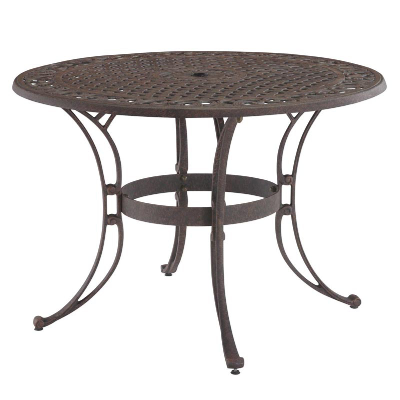 "Home Styles Biscayne 48"" Round Outdoor Dining Table, Multiple Finishes"