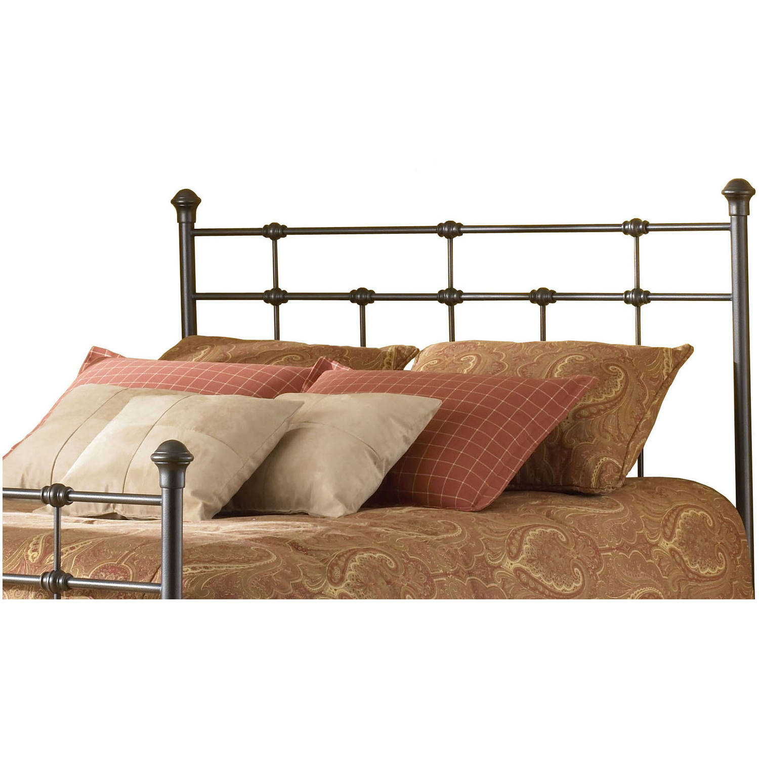 Fashion Bed Group by Leggett & Platt Dexter Metal Hammered Brown Headboard, Multiple Sizes