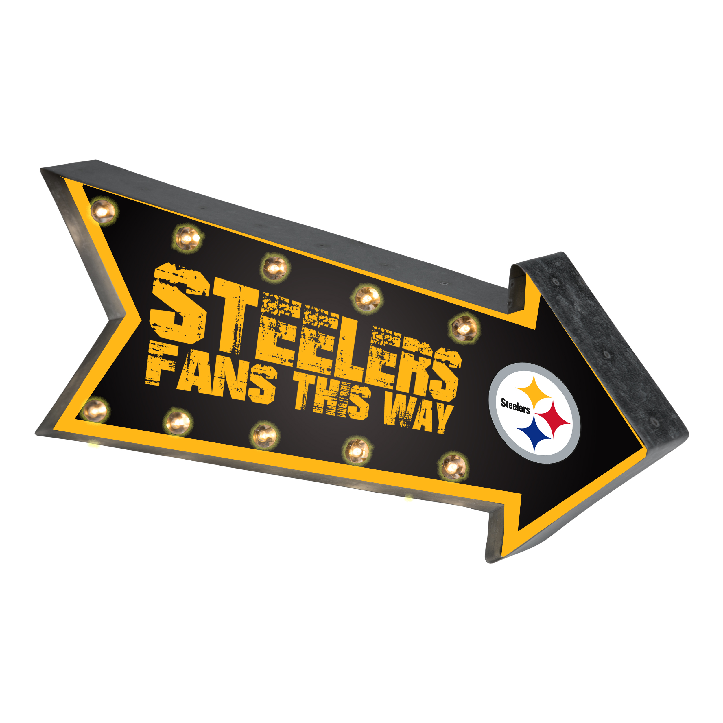 Forever Collectibles  Arrow Light Up Marquee Sign, Pittsbugh Steelers