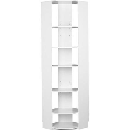 systembuild closet organizer corner unit white. Black Bedroom Furniture Sets. Home Design Ideas