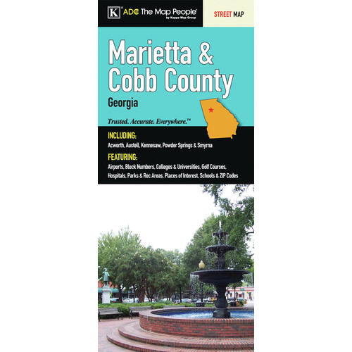 Universal Map Marietta/Cobb County Georgia Fold Map (Set of 2)