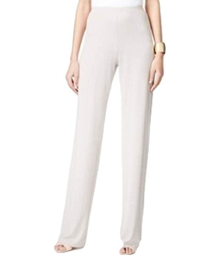 Alfani Wide-Leg Knit Dress Pants French Stone XXL
