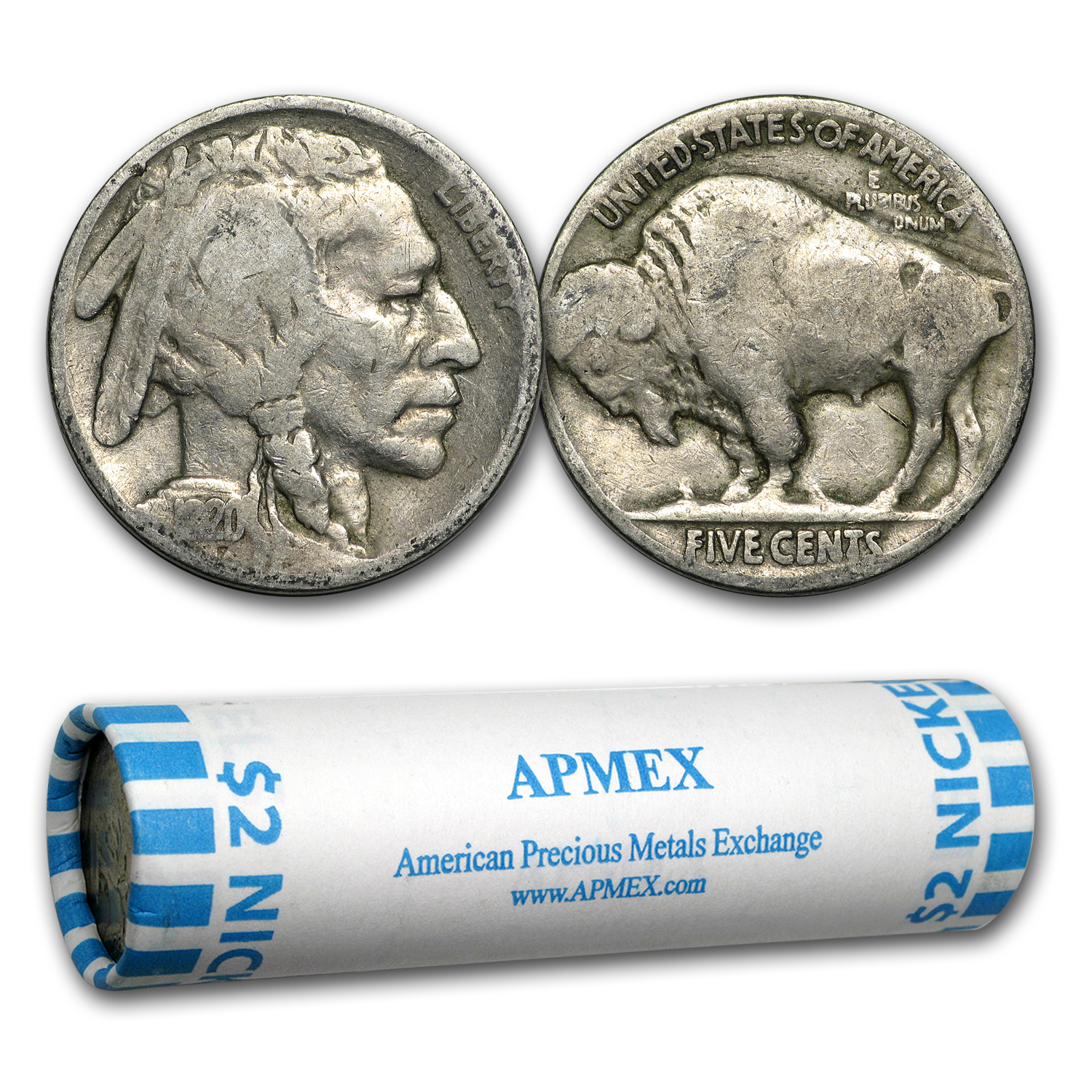 1 Roll Of 40 Buffalo Head Nickels Partial Date Coins