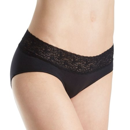 Women's Rosie Pope RP10334 Seamless Maternity Hipster Panty with Lace ()