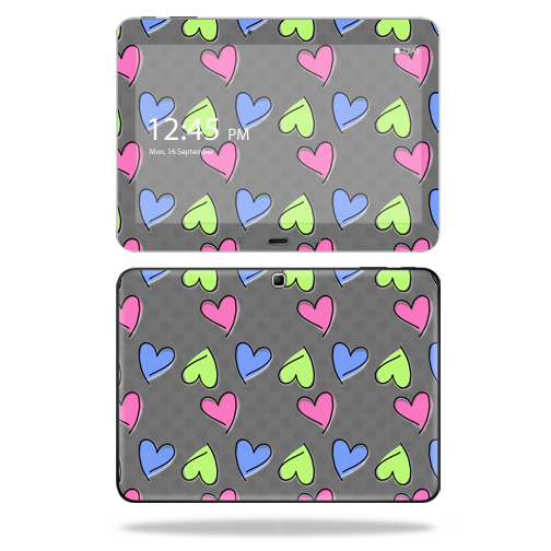 """Mightyskins Protective Vinyl Skin Decal Cover for Samsung Galaxy Tab 4 10.1"""" T530 Tablet skins wrap sticker skins Girly"""