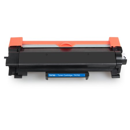 Compatible Brother TN760 toner cartridge - high capacity black (3,000 pages) - Requires a Chip from your Empty - Printer Chip