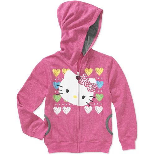 Hello Kitty Girls' French Terry Hoodie Sweatshirt