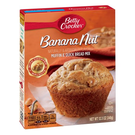 (4 Pack) Betty Crocker Banana Nut Muffin and Quick Bread Mix, 12.3 oz