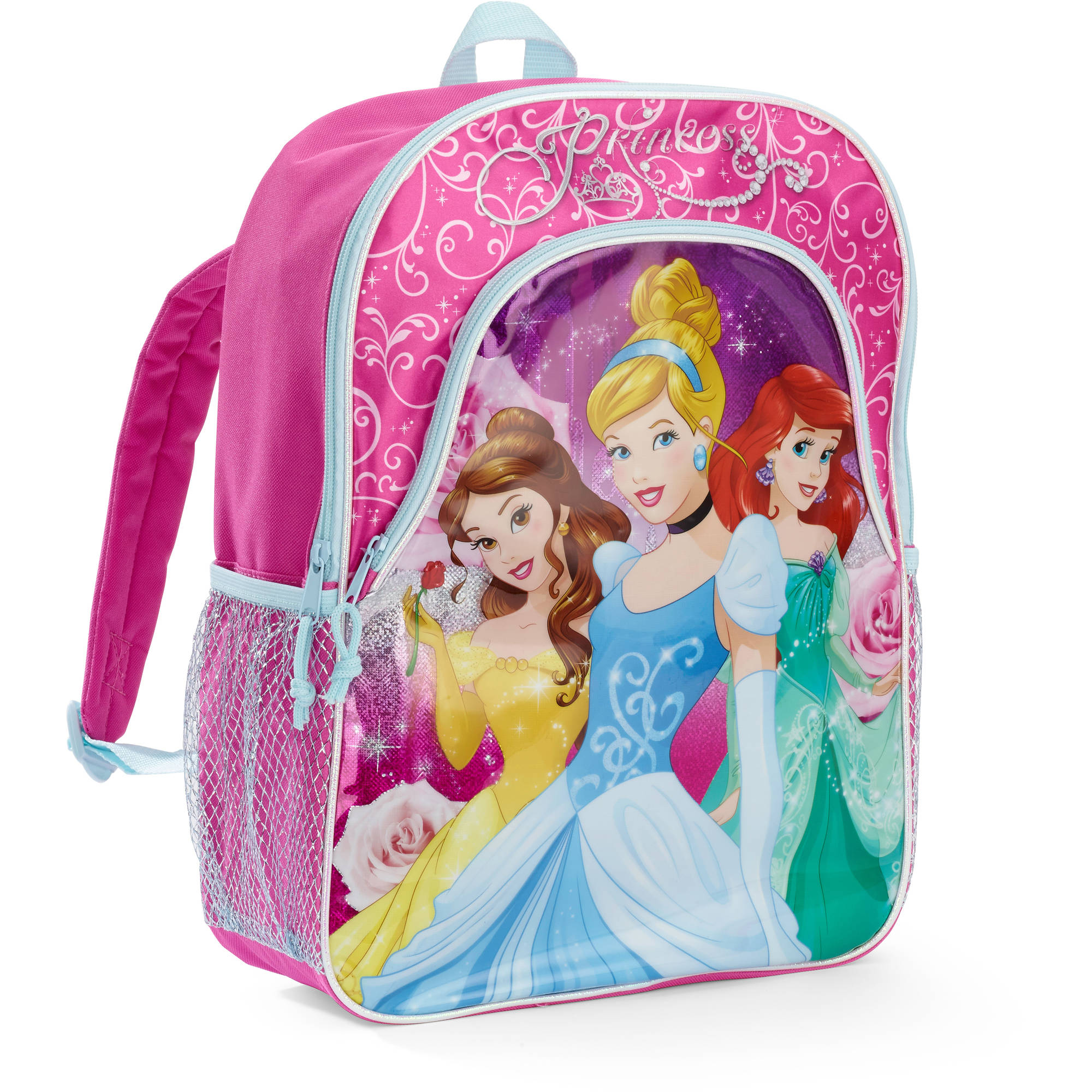 Disney Princess 16'' Deluxe Front Pocket Kids Backpack