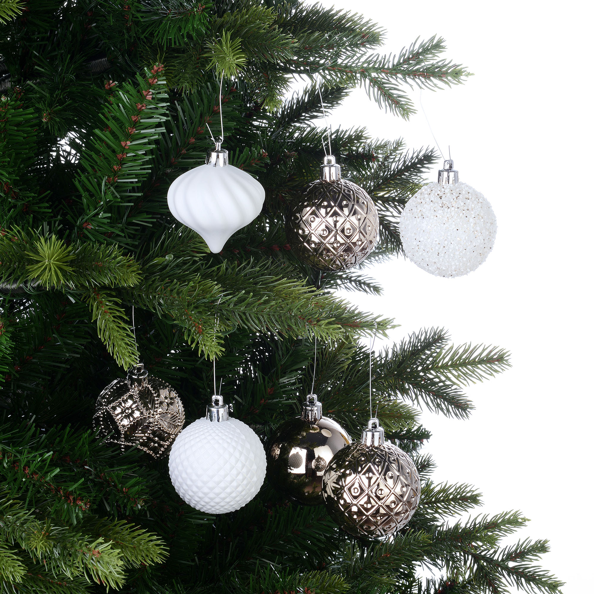 Details about  /26  ORNAMENTS Shatterproof  HOLIDAY TIME    Gold /& Silver