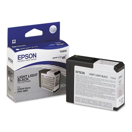 Epson T580900 UltraChrome K3 Ink, Light Light Black (9880 Ultrachrome K3 Ink)