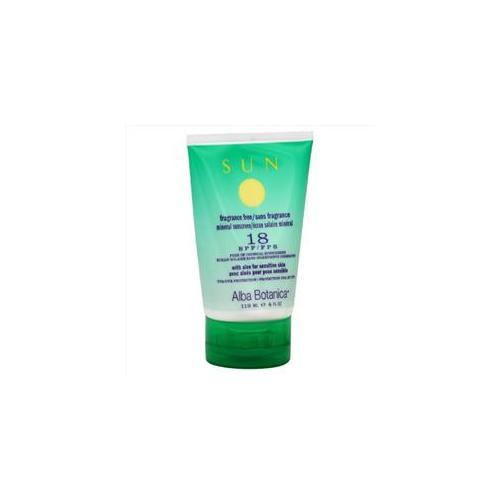 Alba Botanica Sunscreen, Mineral, Spf 18, 4 Oz