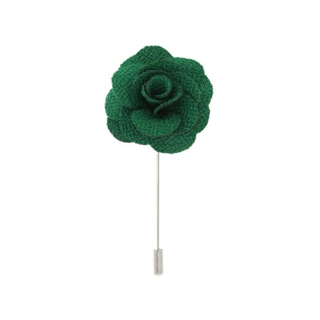 PinMart's Cloth Flower Stick Boutonniere  Lapel Pins - Select your color