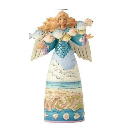 Jim Shore HWC Hope Floats Coastal Angel with Fish Figurine 6001525 Beach New ()