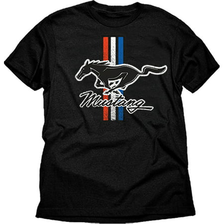 automotive ford mustang classic stripes men 39 s graphic tee shirt. Black Bedroom Furniture Sets. Home Design Ideas
