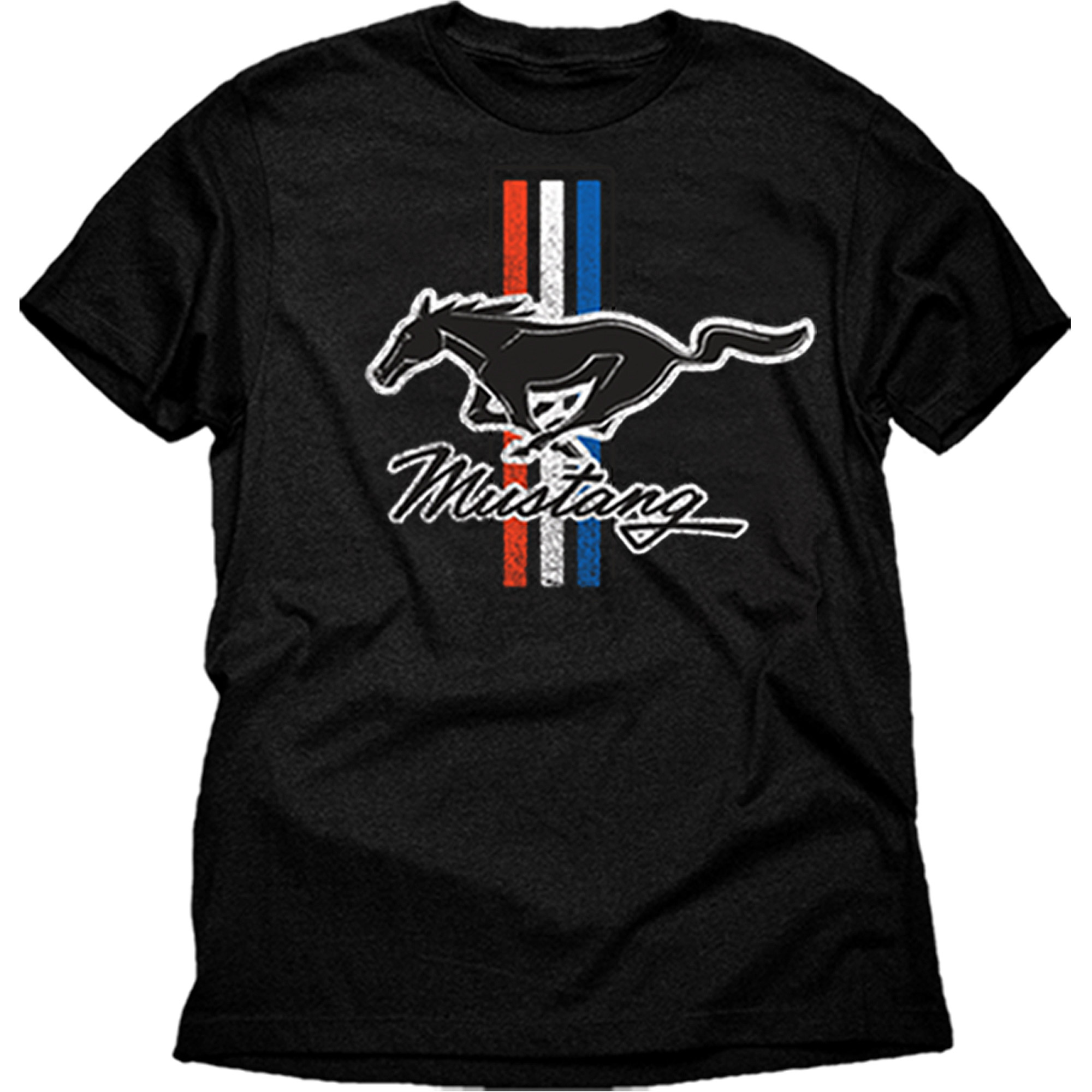 Mustang classic stripes Men's graphic tee shirt