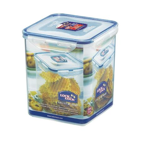 Lock & Lock Easy Essentials Pantry Square Sugar Storage Container, 11-Cup ()