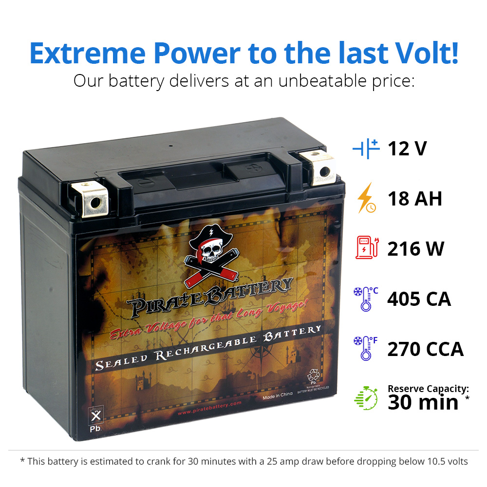MAX Can-Am Renegade 500CC 09 Outlander YTX20L-BS ATV Battery for BRP
