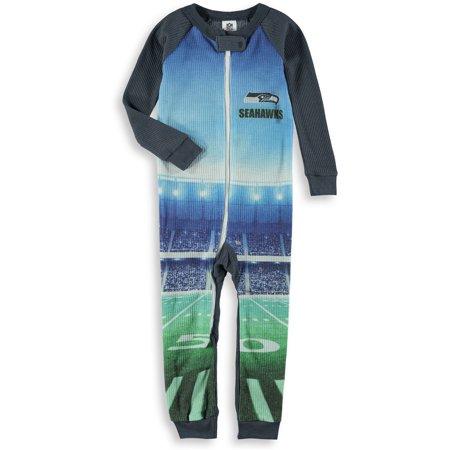 Seattle Seahawks Gerber Infant Union Suit Jumper - Gray