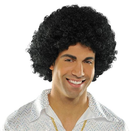 Afro Wig Adult Costume Accessory Black for $<!---->