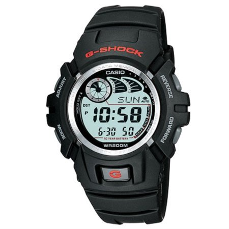 Men's G-Shock Watch With Afterglow Backlight, Black Resin ()