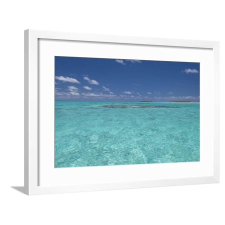 Cook Islands. Palmerston Island. Shallow Lagoon with Coral Framed Print Wall Art By Cindy Miller