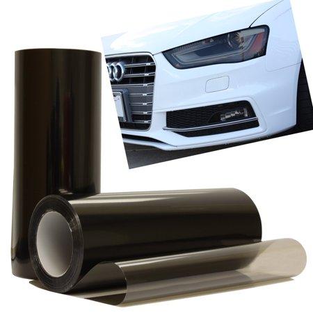 Optix Black Light Smoke Headlight Foglight Protection Guard Vinyl Tint Film 12x36in