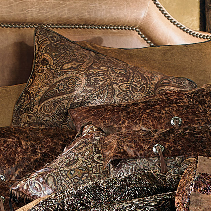 Western Paisley Beaumont Alternate Rustic Euro Sham - Rustic Bedding