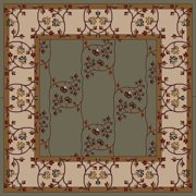 Traditional Caesar Collection Area Rug in Slate Gray, Dark Khaki and Oval, Rectangle, Round, Runner Shape