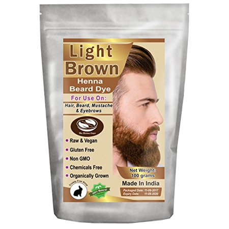 1 Pack of Light Brown Henna Beard Dye For Men 100 Grams - The Henna Guys - Beard Dye Walmart