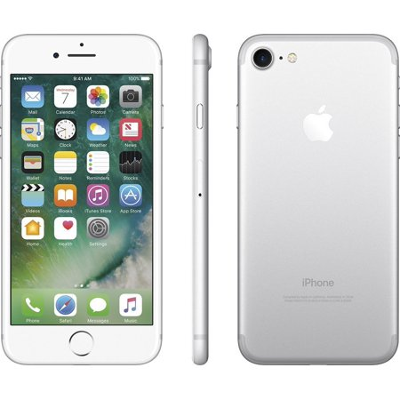 Apple iPhone 7 Cellphone, 32GB,Silver, Unlocked (Certified Refurbished)