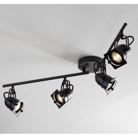 Pro Track Hamilton 4-Light Swing Arm Bronze LED Track Fixture ()