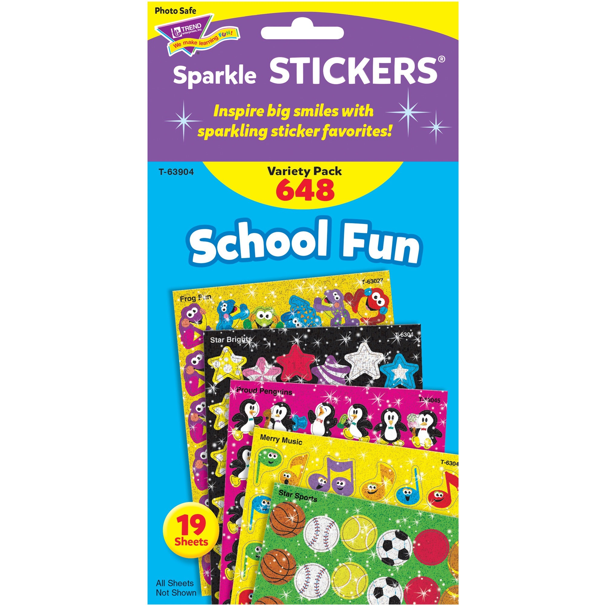 Trend, TEP63904, School Fun little sparkler Stickers, 648 / Pack, Multicolor