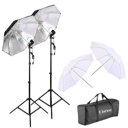 UBesGoo Photo Video Studio Umbrella Reflector Photography Stand Lighting Kit Photography Lighting Light Kit