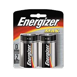 Energizer Max D Batteries, 4-Count + Free Shipping