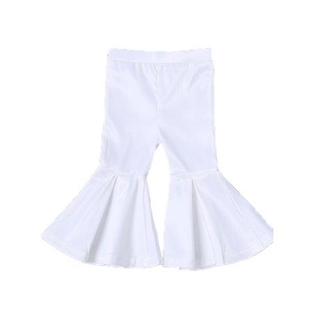 Girls Kids Summer Bell Bottom Long Pants Flared Trousers
