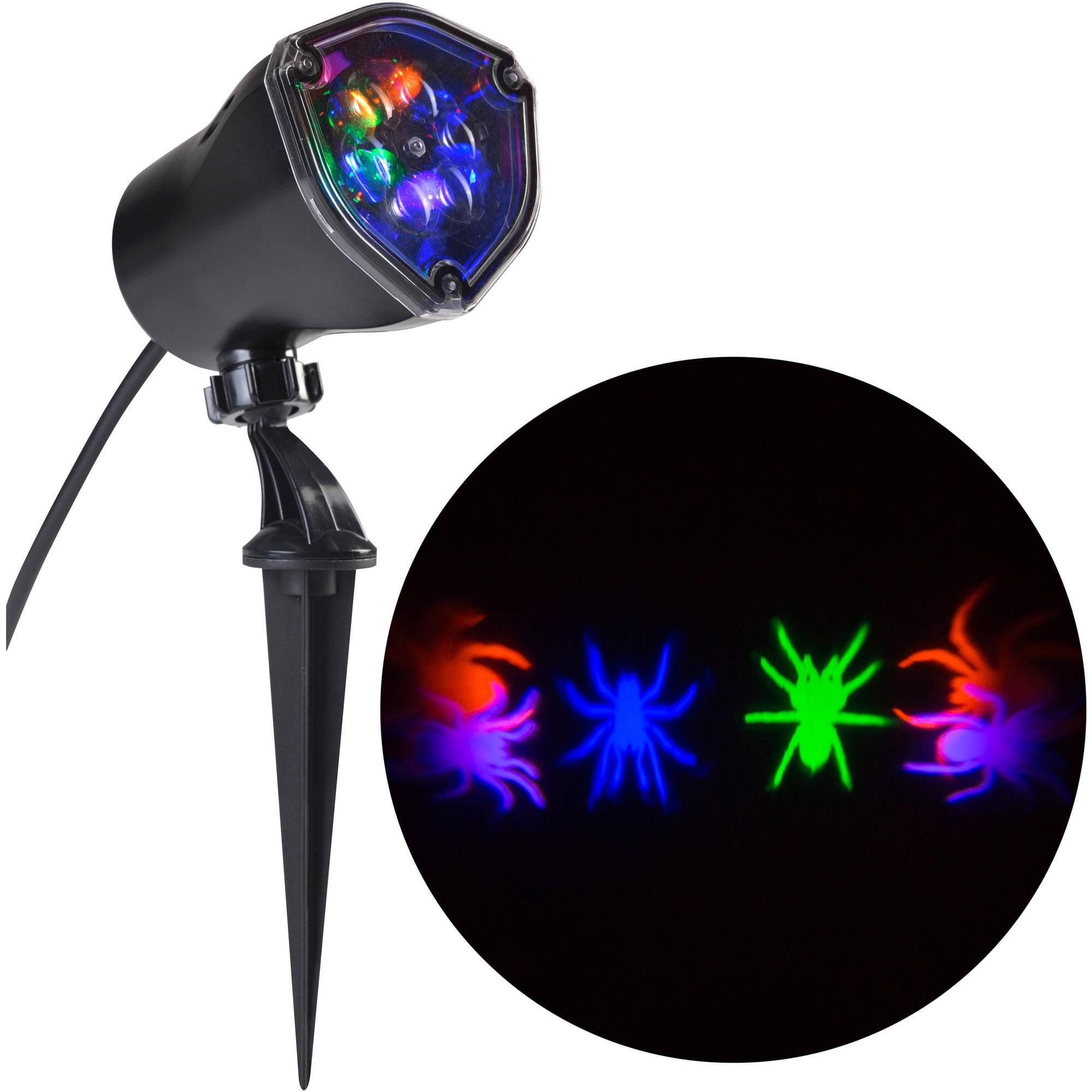 gemmy lightshow projection whirl a motion spider halloween decoration walmartcom