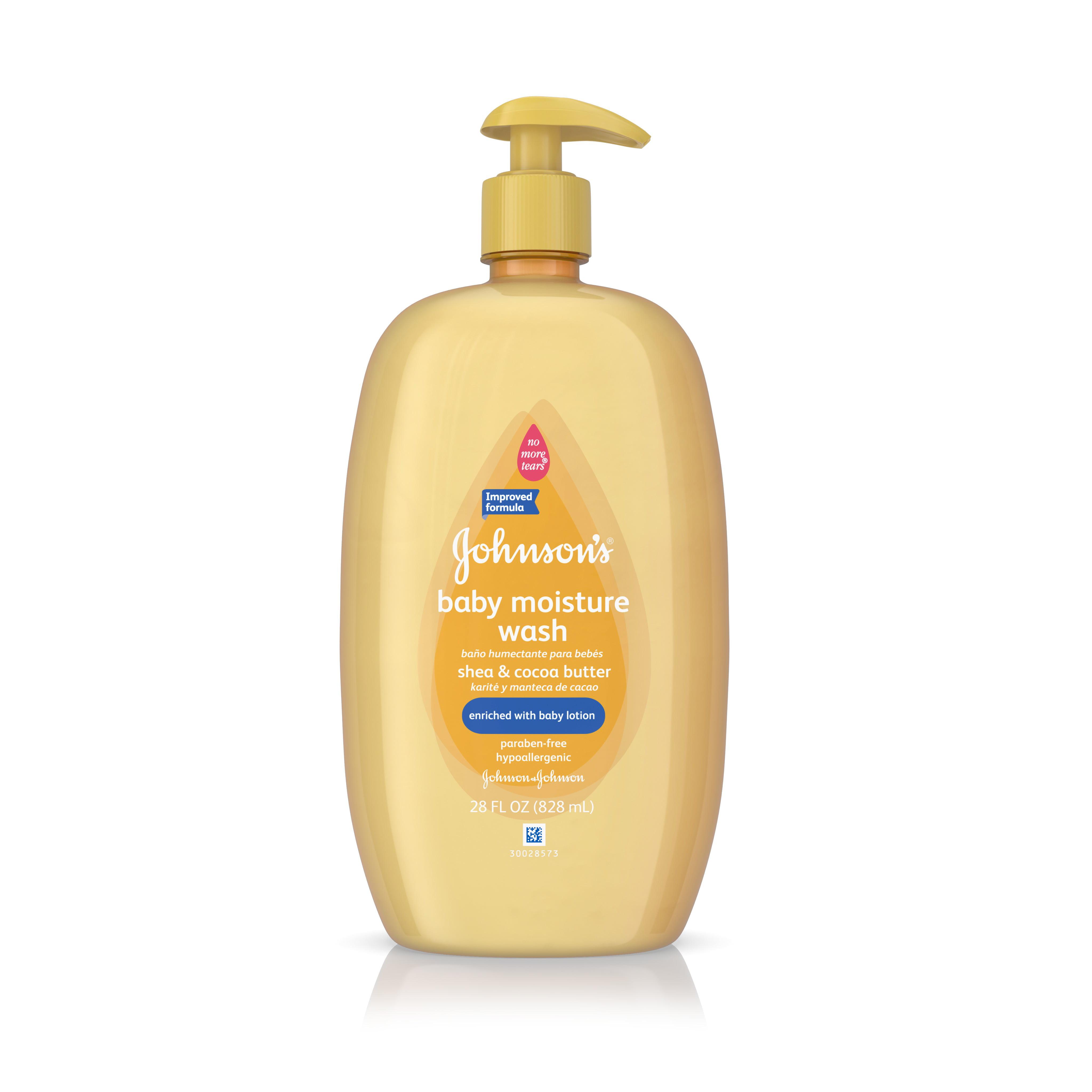 Johnson's Baby Shea & Cocoa Butter Moisture Wash For Dry Skin, 28 Oz.