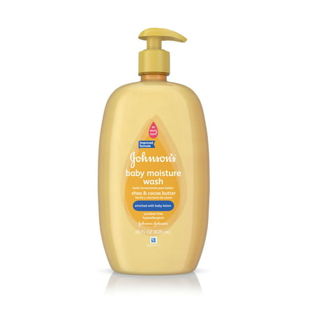 Johnson's Baby Shea & Cocoa Butter Moisture Wash For Dry Skin, 28 Oz.