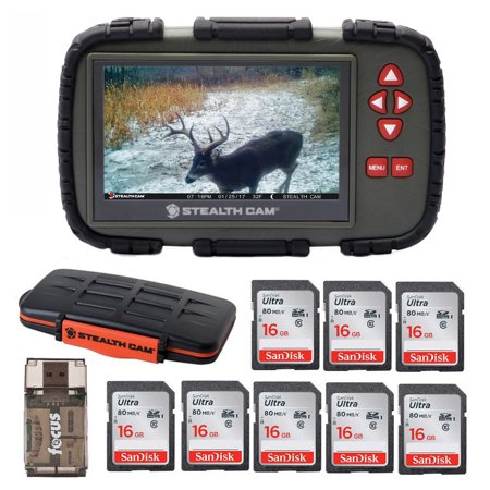 "Stealth Cam SD Card Viewer with 4.3"" Touch Display with Storage Case Bundle"