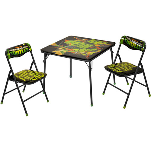 nickelodeon teenage mutant ninja turtle square table and chair set - Folding Table And Chairs