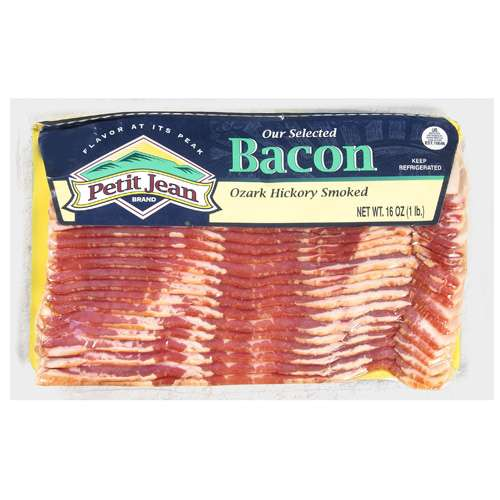 Petit Jean Our Selected Ozark Hickory Smoked Bacon, 16 oz