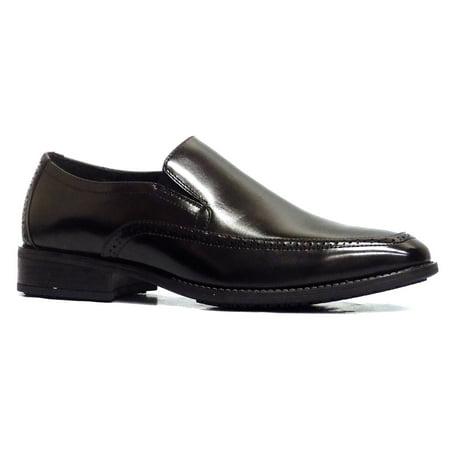 Stacy Adams Acton Men's Leather Slip On Slip Resistant Dress Shoes, Black ()