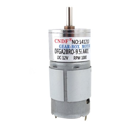 12V 1000RPM Rotary Speed Reduce Cylindrical Micro DC Geared Gearbox Motor