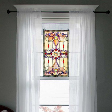 River of Goods Stained Glass Brandis Window Panel (Stained Glass Illuminated Wall Decor)