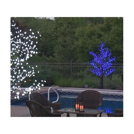 8 5 Pre Lit Led Outdoor Christmas Tree Decoration Blue Flower Lights
