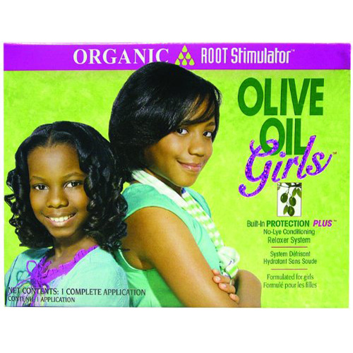 Organic Root Stimulator Girls Olive Oil  No-Lye Relaxer Kit - 1 Ea